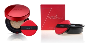 (2Sets) SEVEN WINGS SMOOTH RED CUSHION + REFILL (#21/#23)