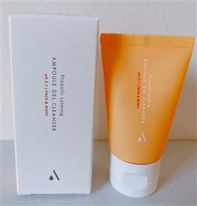 25ml AIDA Cosmetic Propolis Calming Ampoule Gel Cleanser PH 5.7 Face & Body