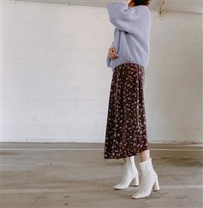Khaki Paris Slip dress (Ivory/Khaki/Black) (will ship within 1~2 weeks)